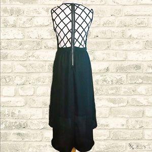 🆕 NWOT Black High/Lo Caged Back Dress